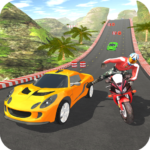 Car vs Bike Racing APK MOD (Unlimited Money) Varies with device