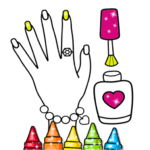 Glitter Nail Drawing Book and Coloring Game APK MOD (Unlimited Money) 3.0