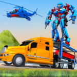 US Police Train Transporter Truck Robot Stunt Game APK MOD (Unlimited Money) 1.5
