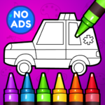 🚗 Learn Coloring & Drawing Car Games for Kids  🎨 APK MOD (Unlimited Money) 5.0
