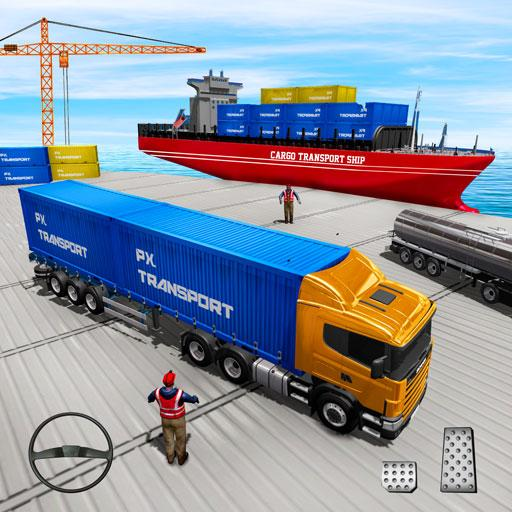 US Truck Cargo Simulator: Transporter Ship Driving APK MOD (Unlimited Money) 2.8