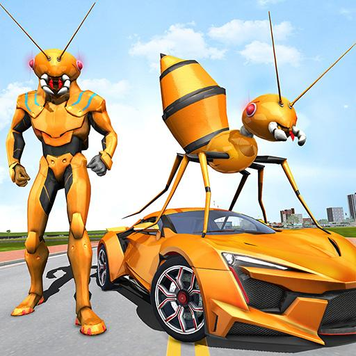 Ant Robot Car Transforming Games – Car Robot Game APK MOD (Unlimited Money) 1.0