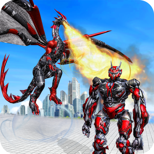 Flying Dragon Robot Transform Iron Robot Hero War APK MOD (Unlimited Money) 1.0.3