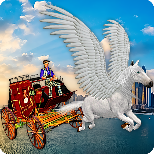 Flying Horse Taxi City Transport: Horse Games 2020 APK MOD (Unlimited Money) 2.6