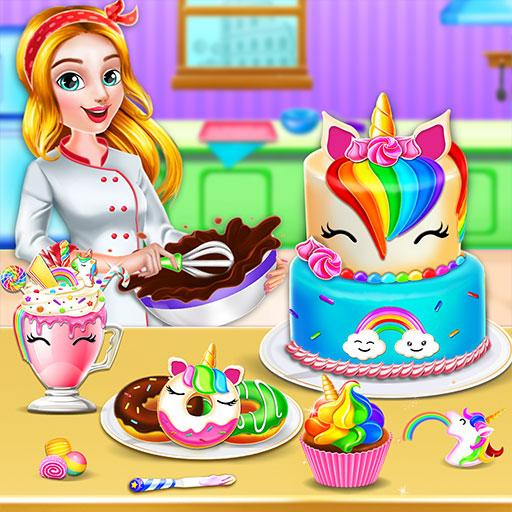Unicorn Food Bakery Mania: Baking Games APK MOD (Unlimited Money) 0.4