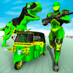 Tuk Tuk Auto Rickshaw Transform Dinosaur Robot APK MOD (Unlimited Money) 2.2
