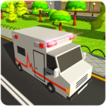 Blocky US Fire Truck & Army Ambulance Rescue Game APK MOD (Unlimited Money) 1.0.5