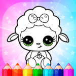 Flower Magic Color-kids coloring book with animals APK MOD (Unlimited Money) 3.8
