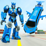 Flying Limo Robot Car Transform: Police Robot Game APK MOD (Unlimited Money) 1.0.17