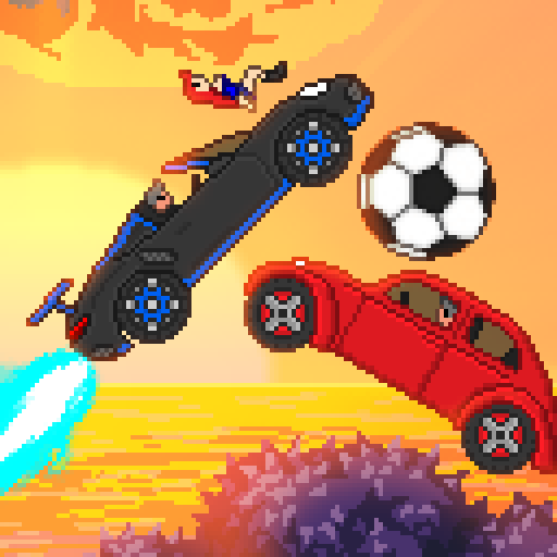 Pixel Boost League – 2D Rocket Powered Car Soccer APK MOD (Unlimited Money)  v1.7.3
