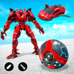 Red Ball Robot Car Transform: Flying Car Games APK MOD (Unlimited Money) 1.3.8