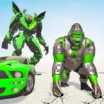 Gorilla Robot Car Games- Transform War Robot Games APK MOD (Unlimited Money) 3.0