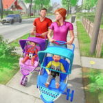 Virtual Mother New Baby Twins Family Simulator APK MOD (Unlimited Money) 2.1.7