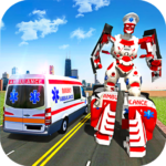 Ambulance Robot City Rescue Game APK MOD (Unlimited Money) 1.9