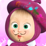 Masha and the Bear: Free Coloring Pages for Kids   APK MOD (Unlimited Money) 1.7.6