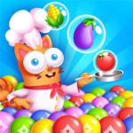 Kitten Games Bubble Shooter Cooking Game   APK MOD (Unlimited Money) 1.3