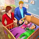 Virtual Mother Baby Twins Family Simulator Games APK MOD (Unlimited Money) 1.1.4