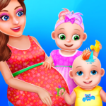Pregnant Mommy And Twin Baby Care APK MOD (Unlimited Money) 0.8