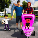 Virtual Mother Life Simulator – Baby Care Games 3D APK MOD (Unlimited Money)